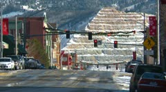 Butte Montana city center and mine - stock footage