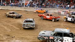 Demolition derby 12 Stock Footage