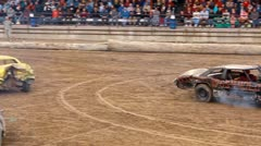 Demolition derby 13 - stock footage