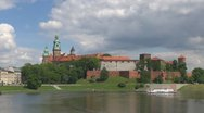 Stock Video Footage of Time lapse Wawel Castle Krakow Poland landmark tourism attraction lake famous