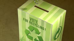 Vote for recycling - high angle - title Stock Footage