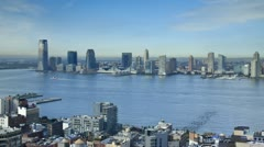 New Jersey skyline from Soho - Manhattan, New York City, USA Stock Footage