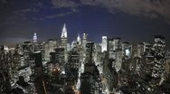 Stock Video Footage of Midtown skyline with the Chrysler Building, New York City, USA