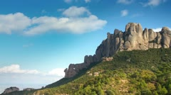 Montserrat mountain range unique spain 4k Stock Footage