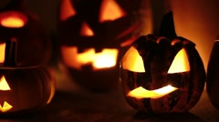 spooky pumpkins dolly - stock footage