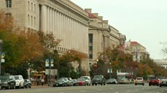 Traffic at the IRS Building (LP-Washington-236) Stock Footage