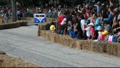 Lisbon Red Bull Soapboax race 2011 Stock Footage