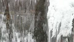 Movement of ice floes in winter river. Stock Footage