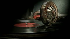 Very old gramophone. Stock Footage