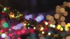Christmas light bulbs Stock Footage