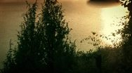 Sunset on the Pond Stock Footage