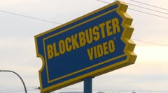 Blockbuster store closed, 2 shot Stock Footage