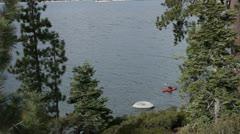 20 Sec Canoe Lake Tahoe.mp4 Stock Footage