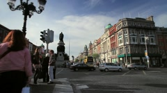 Dublin Traffic Timelapse, Ireland  - stock footage