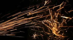Sparks hit metal Stock Footage