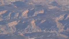 SouthWest Aerial2-38-Dry Winter mountain area 2 Stock Footage