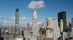 New york manhattan skyline NYC ny 4k Stock Footage