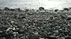 Pan of Rocky Beach Stock Footage