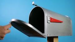 Empty mail box Stock Footage