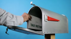 Tax return mail Stock Footage