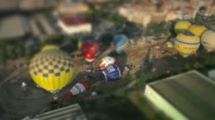 Hot air ballons shift and tilt Stock Footage