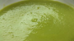 Pouring Pea Soup Stock Footage