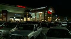 Mall Christmas Shopping - stock footage