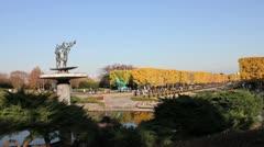 Tachikawa Park near Tokyo with Autumn colors Stock Footage