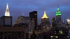 New york manhattan skyline NYC ny 4k Stock Footage