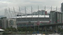 Vancouver BC Place, zoom back Stock Footage