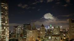 New york manhattan skyline NYC ny Stock Footage
