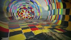Interior of a hot air ballon Stock Footage