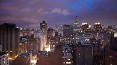 NYC ny manhattan skyline night 4k Stock Footage
