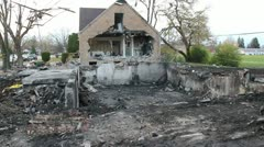 House explosion - stock footage