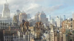NYC ny manhattan skyline Stock Footage