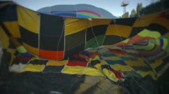 Hot air ballon Stock Footage