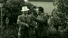 Businessmen Argue Discuss Gestures Circa 1936 (Vintage Film Home Movie) 1448 Stock Footage