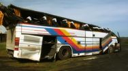 Broken bus after failure Stock Footage