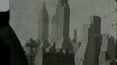 Stock Video Footage of New York City from Observation Deck Circa 1939 (Vintage Film Home Movie) 1452