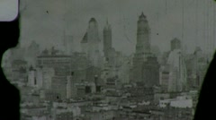 Stock Video Footage of New York City from Observation Deck Circa 1939 (Vintage Film Home Movie) 1450