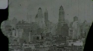 New York City from Observation Deck Circa 1939 (Vintage Film Home Movie) 1450 Stock Footage