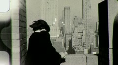 NYC Observation Deck Empire State Building 1940s Vintage Film Home Movie 1454 - stock footage