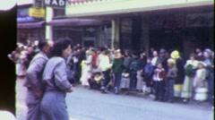 Crowd Waits for Parade Olympia Washington Circa 1960 (Vintage Film) 1457 Stock Footage