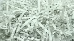 Shredded Document - stock footage