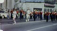 MARCHING BAND PARADE Olympia Washington 1960s (Vintage Film Home Movie) 1461 Stock Footage