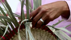 Handcraft Basket Stock Footage