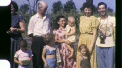 Stock Video Footage of Family Reunion Circa 1960 (Vintage Film 8mm Home Movie) 1466