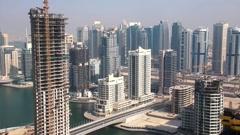 Development of Dubai Marina, United Arab Emirates Stock Footage