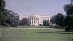 The White House Lawn Washington DC US Capitol 1960s Vintage Film Home Movie 1468 - stock footage