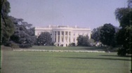 The White House Lawn Washington DC US Capitol 1960s Vintage Film Home Movie 1468 Stock Footage